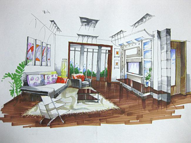 手绘 家装 现代 马克笔 内部模板下载 963185 私人建筑 建筑