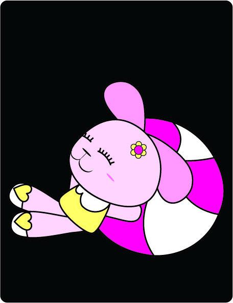 兔子卡通画-卡通兔子简笔画|可爱小兔子卡通画|兔子
