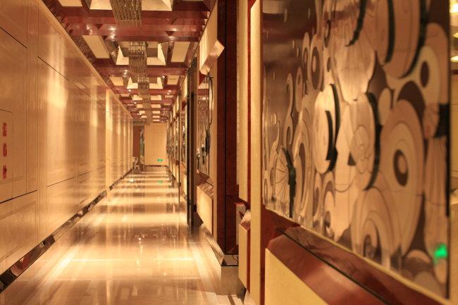 宾馆室内透视手绘