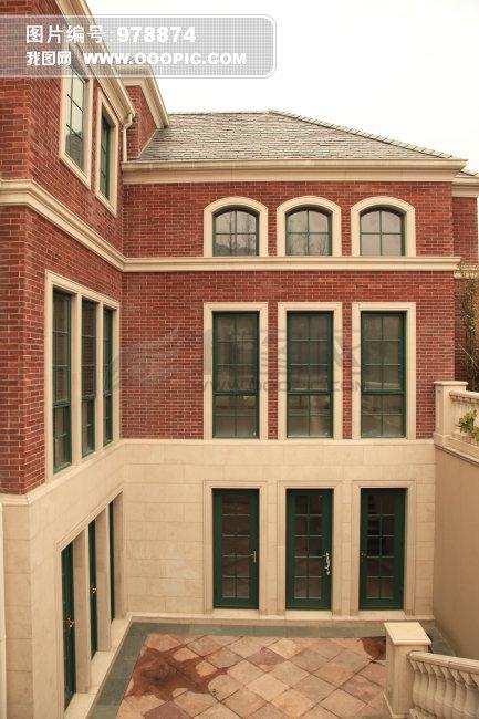 创意红砖欧式窗户造型