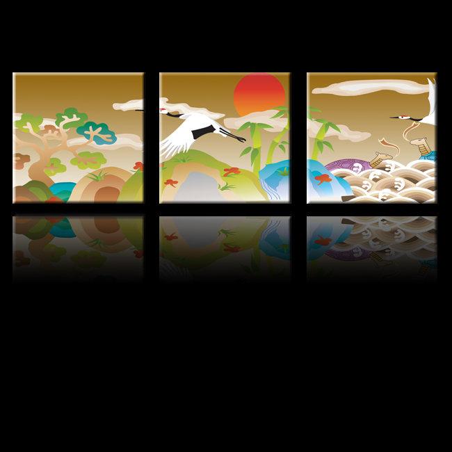 仙鹤创意设计图形
