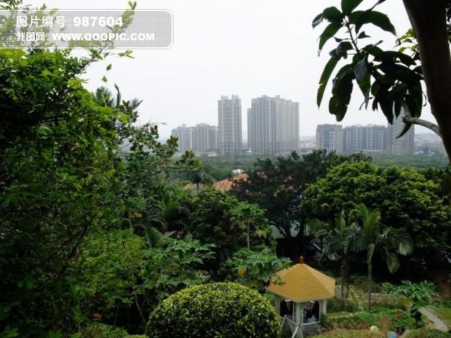 美丽的风景模板下载 美丽的风景图片下载 树木 草丛 楼宇 远景 桂林