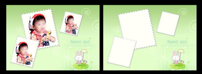儿童相册设计 相册模板 儿童艺术模板 psd素材 相册设计 卡通动物