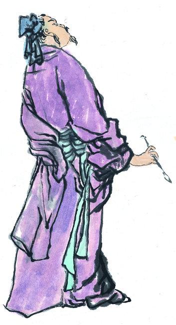 紫色古典风人物