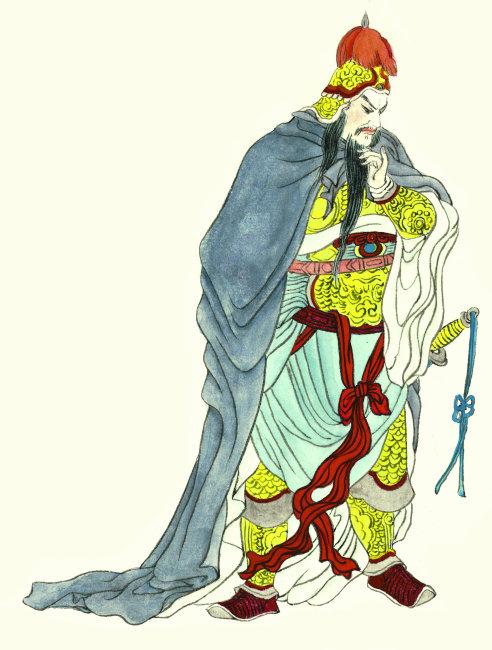 古代卡通建筑手绘彩色