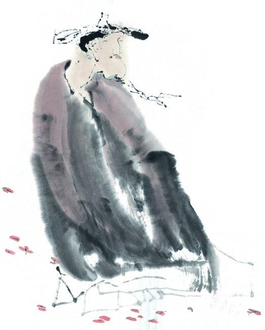 插画中国艺术国画人物手绘