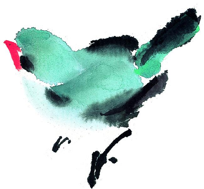 中国书画 气势 气韵 意境 境界 鸟鸣 中国水墨画素材 中国风水墨画