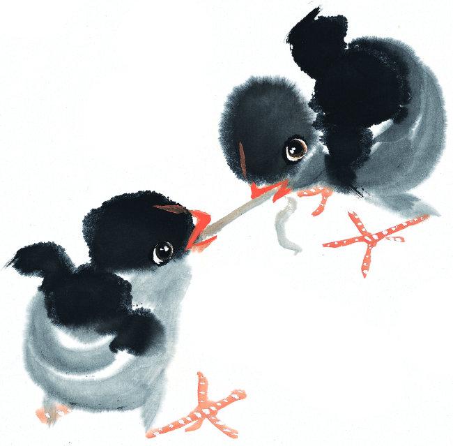 中国水墨画素材 中国风水墨画 bbs010067艺术画 绘画 插画 动物插画