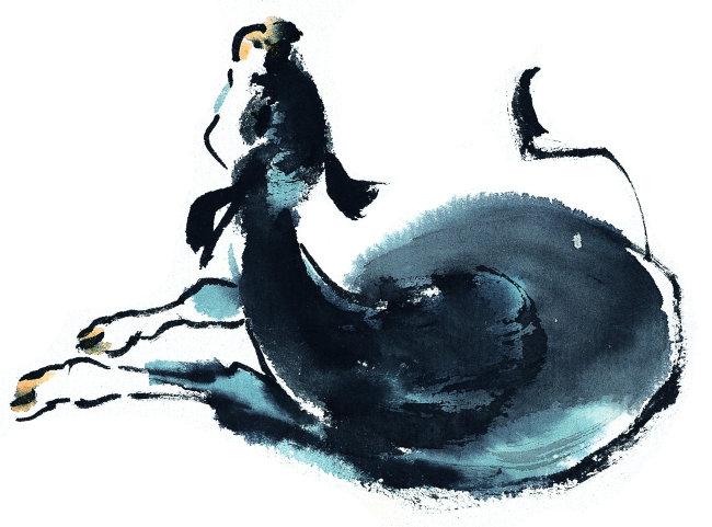 中国风水墨画 bbu010030中国文化 艺术 作画 自然 绘画作品 绘画艺术