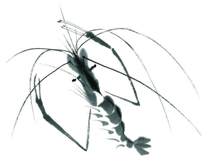 中国水墨画素材 中国风水墨画 中国传统绘画 绘画 彩绘 插画 海底动