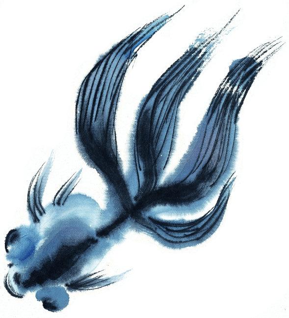 中国书画 气势 气韵 意境 境界 鱼虾 中国水墨画素材 中国风水墨画