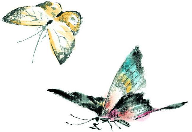 国画蝴蝶写意步骤