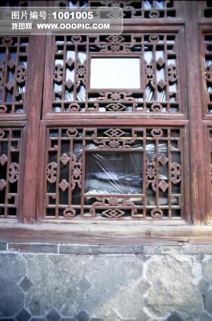 > 古代屏风 窗户  江都市王氏故居古代屏风 窗户 塑料 石头 木头 户外