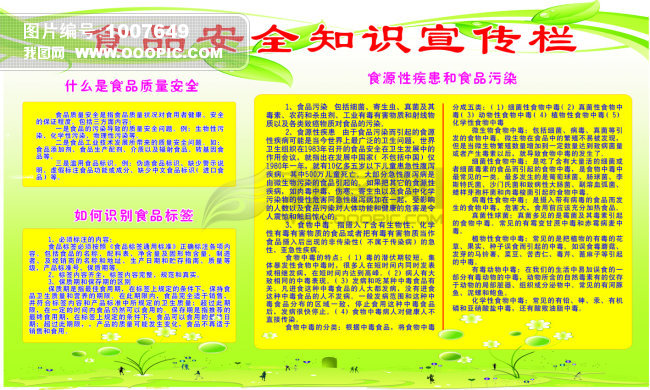 食品安全知识宣传栏模板下载 学校展板设计图片素材下载 x展架设计元图片
