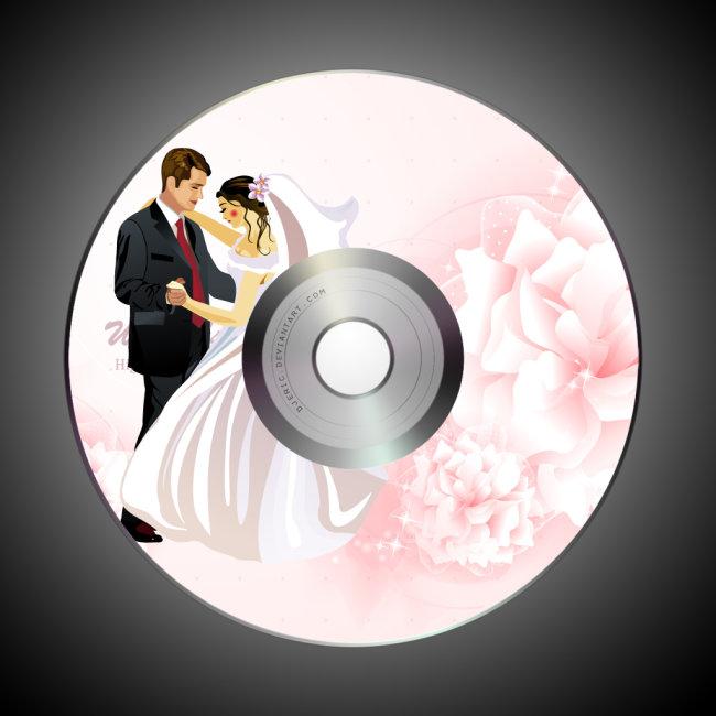 婚庆光盘模板图片