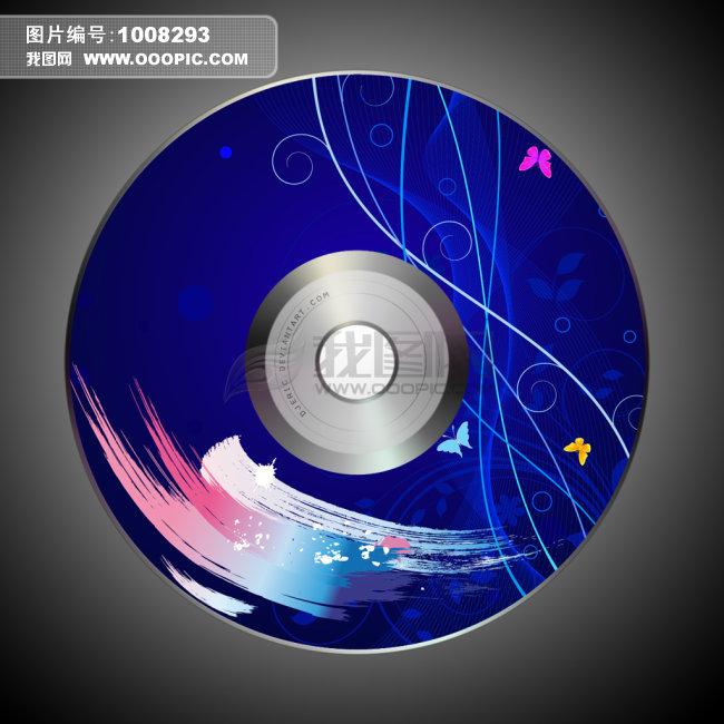 科技类光盘封面模板图片