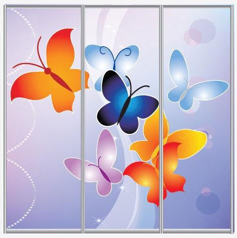 蝴蝶变形图案手绘