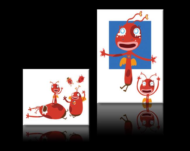 画装饰画图片下载可爱卡通烹烹无框画装饰画 无框画清爽时尚艺术简单