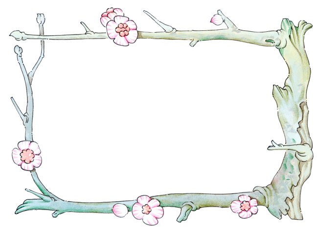 梅花边框模板下载 梅花边框图片下载图片