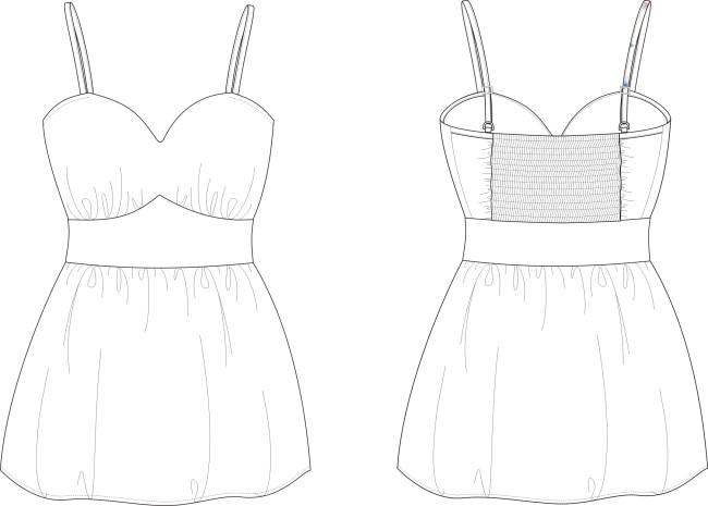 女连衣裙模板下载(图片编号:1020124)_插画|元素|卡通