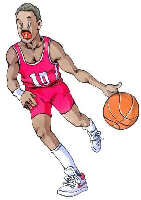 篮球简笔画彩色