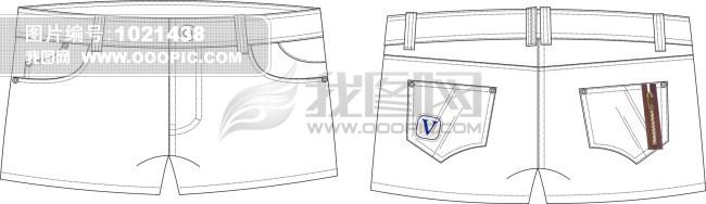 短裤设计模板下载 短裤设计图片下载