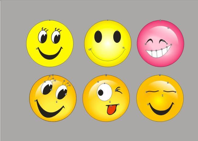 qq笑脸矢量图大全图片下载qq笑脸矢量图大全 各种笑脸表情大全