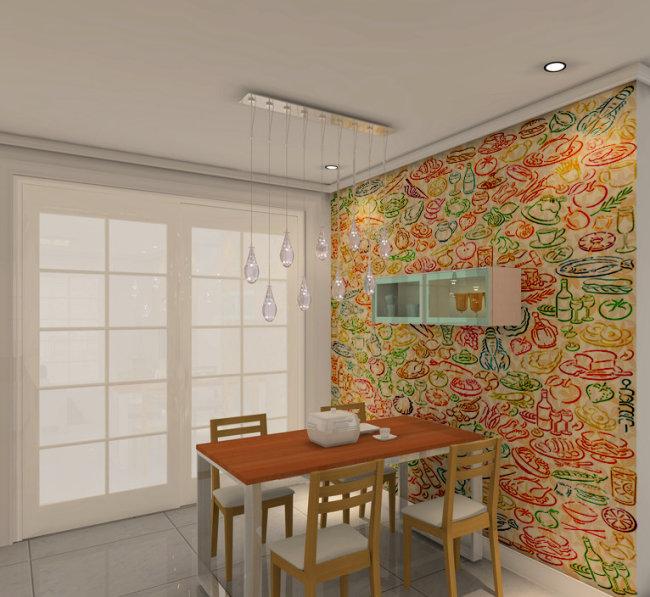 餐厅背景墙模板下载(图片编号:1021835)