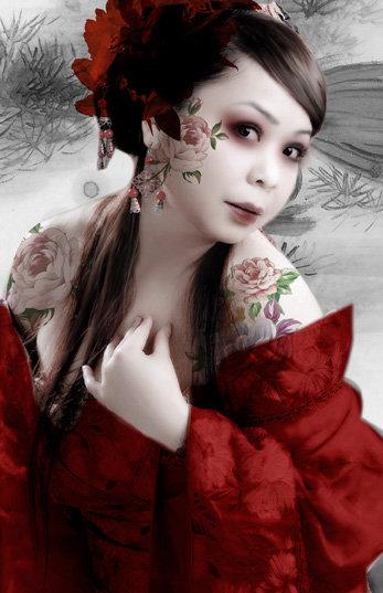 平面设计 花纹图案设计 其他图案 > 华丽古装美女  下一张&gt