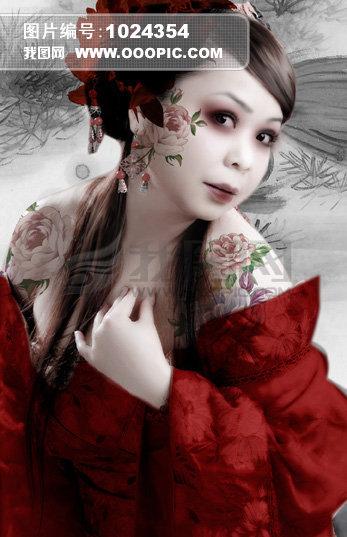 美女 古装美女 古装 红色