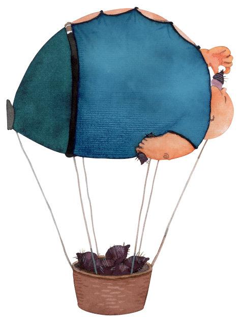 小雨伞幼儿彩色手绘图