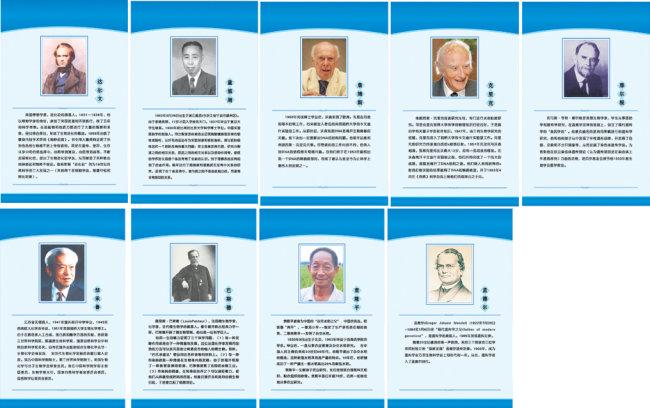 科学家展板模板下载 科学家展板图片下载 科学家展板 背景为蓝色 无