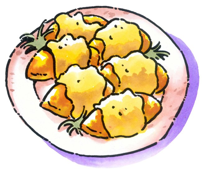 西餐食物 插画