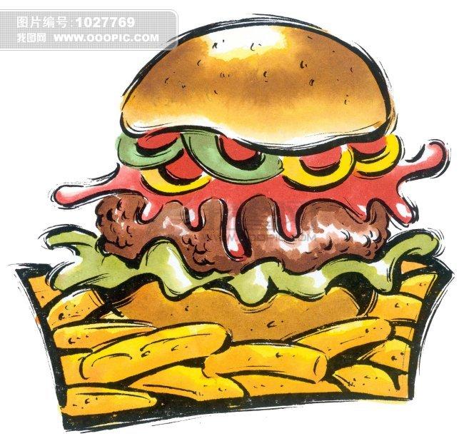 卡通汉堡包 卡通汉堡包简笔画 汉堡包卡通图 汉堡包卡通画 汉堡包卡