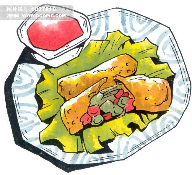 精致食物插画素材下载