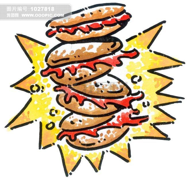 食物 食品 插画 写意