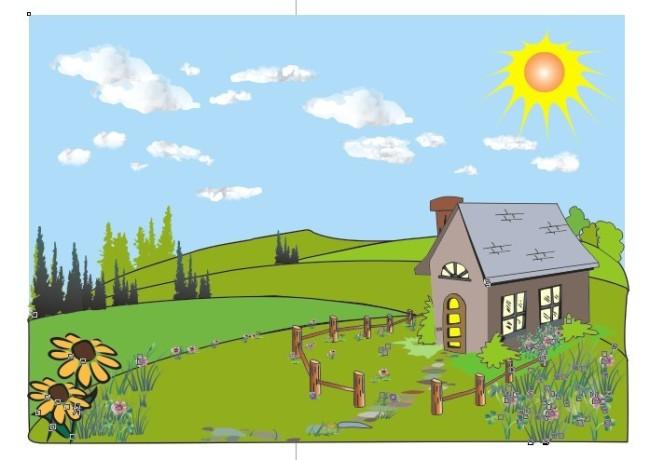 卡通风景画模板下载 卡通风景画图片下载