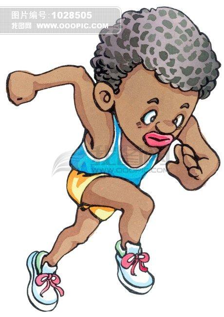 赛跑运动员 手绘插画
