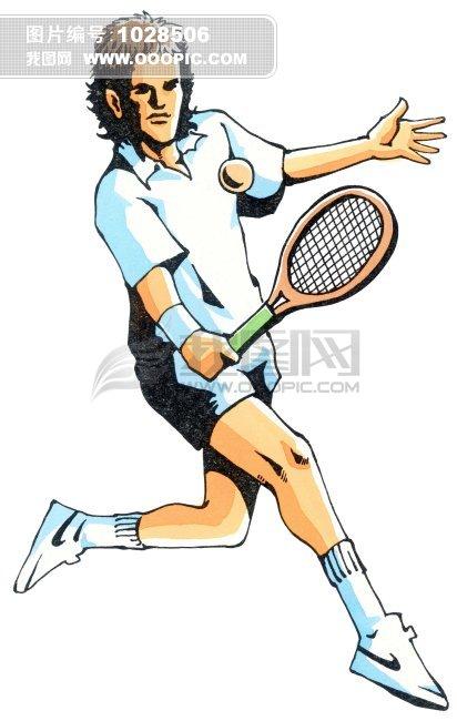 羽毛球运动员 手绘插画