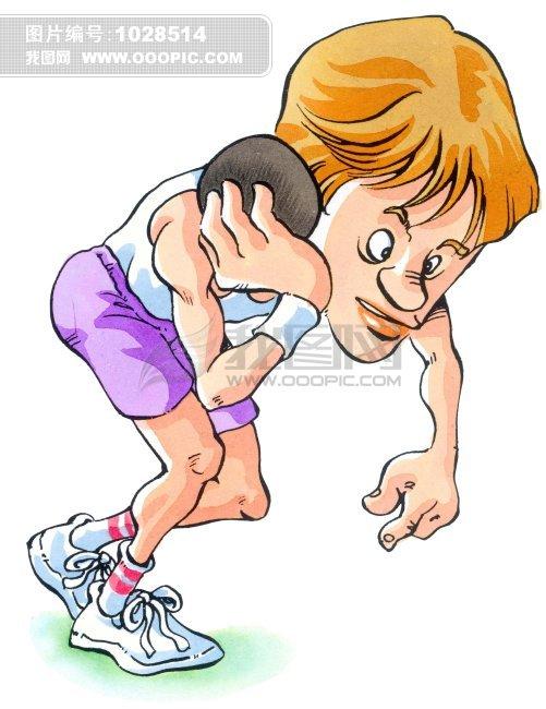 铝球运动员 手绘插画