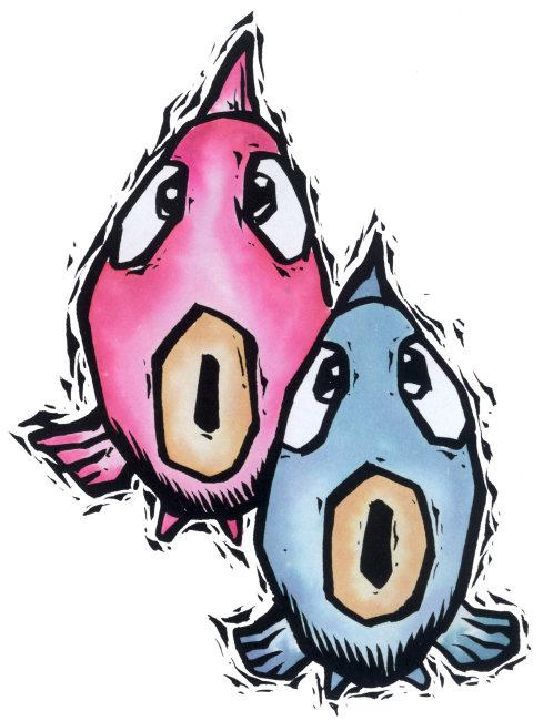 星座眼睛手绘图片双鱼
