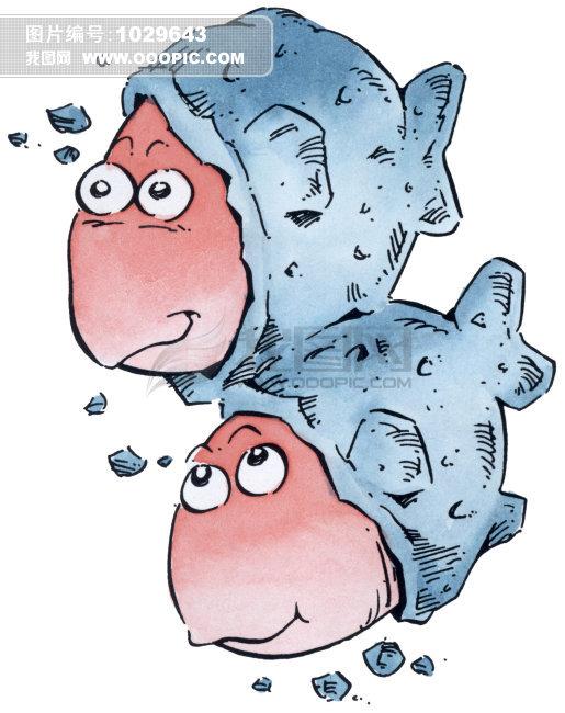 双鱼 星座插画模板下载 双鱼 星座插画图片下载 插画 手绘画廊 双鱼