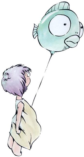 双鱼座插画图片下载 插画 手绘画廊 双鱼座双鱼座 星座 小女孩 气球
