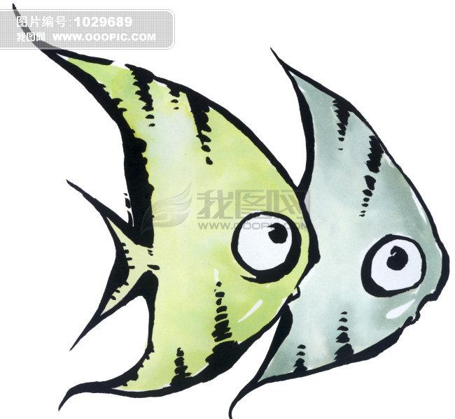 双鱼座插画图片下载 插画 手绘画廊 双鱼座双鱼座 星座 鱼 两只 生物