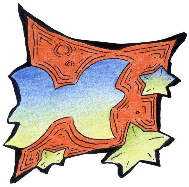双鱼座插画模板下载 双鱼座插画图片下载 插画 手绘画廊 双鱼座双鱼座