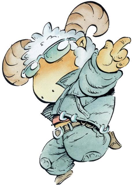 卡通漫画白羊座