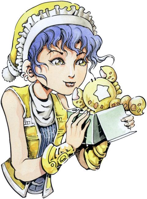 动漫 漫画 星座 天蝎座 蝎子 女孩 圣诞帽 礼物 竖图 留白 彩色图片