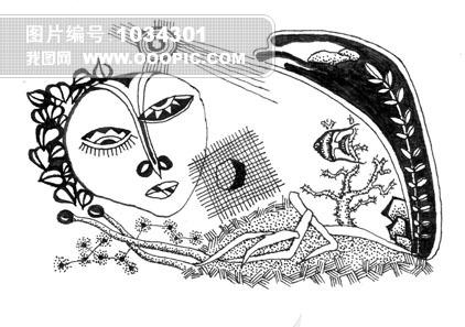 钢笔画插图模板下载(图片编号:1034301)