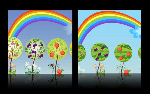 彩虹 颜色搭配图片