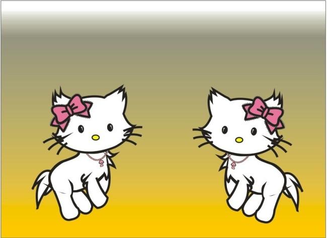 卡通 小猫咪